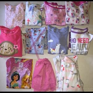 ❄️ Girls Huge WINTER Lot Pajamas PJs 3T